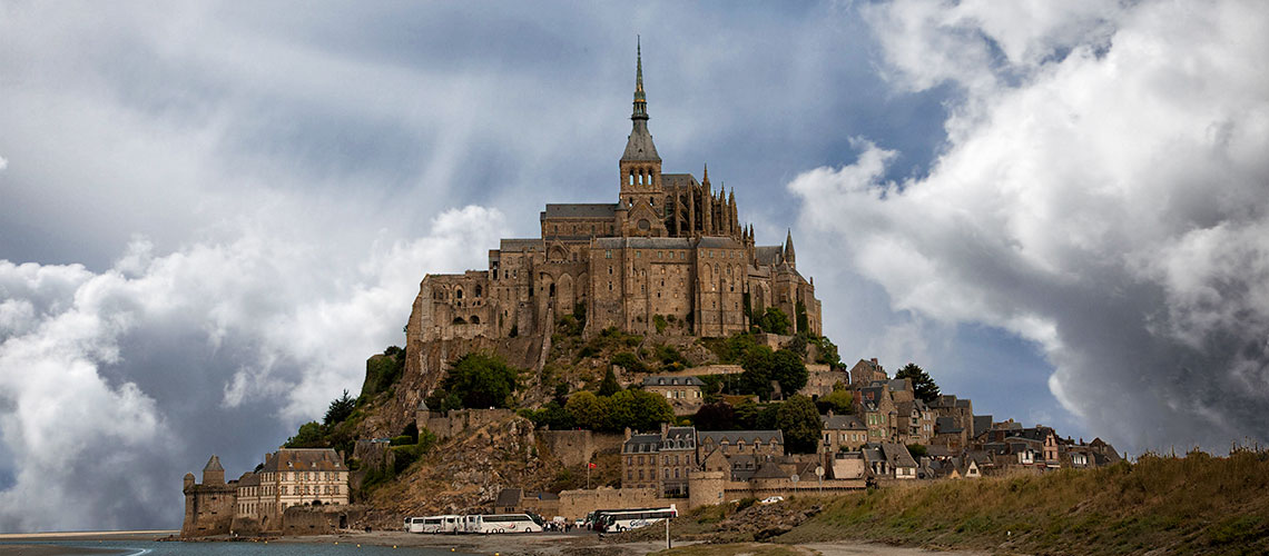 HK Barlow Mont-St. Michel Abbey, France