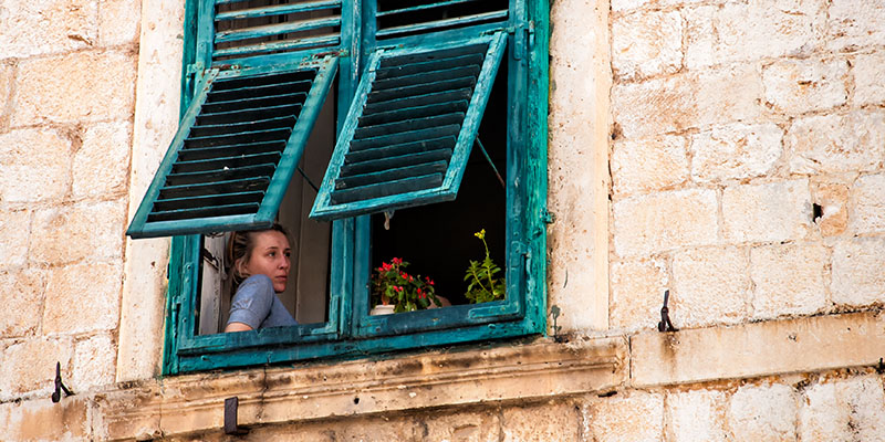 Dubrovnik Girl in the Window