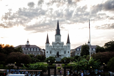 New Orleans Jackson Square Before Sunset