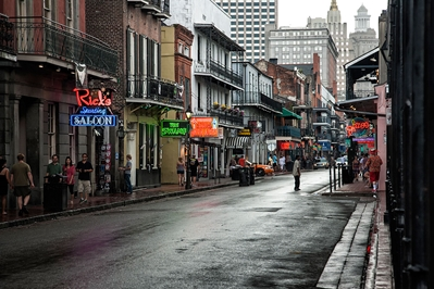 New Orleans Rain on Bourbon Street