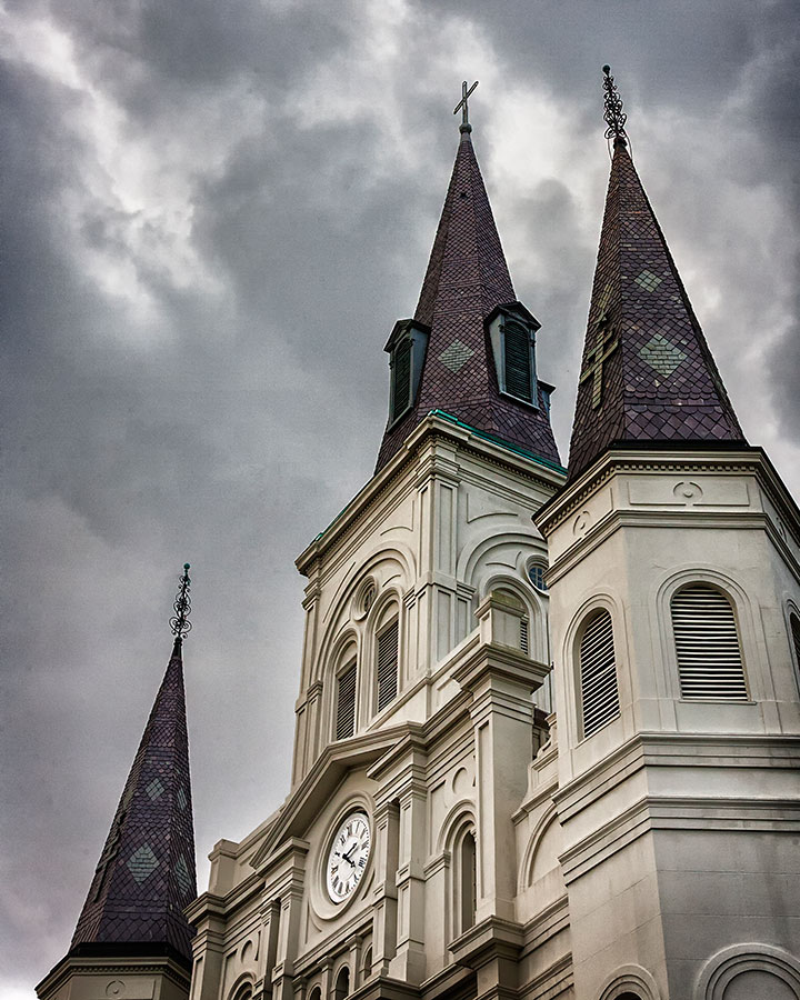 New Orleans Saint Louis Cathedral Before the Rain
